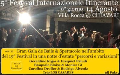 DOM 14 AGO:  9°gg del FESTIVAL , Gran Galà con tutti gli artisti – CHIAVARI – VILLA ROCCA
