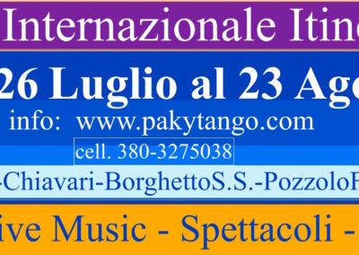 6° FESTIVAL INTERNAZIONALE ITINERANTE 2017 – Piemonte/Liguria