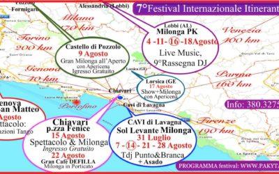 7° FESTIVAL ITINERANTE – Piemonte/Liguria