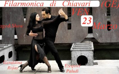 VEN 23 MARZO Geraldina/Ezequiel alla Filarmonica(Chiavari) !