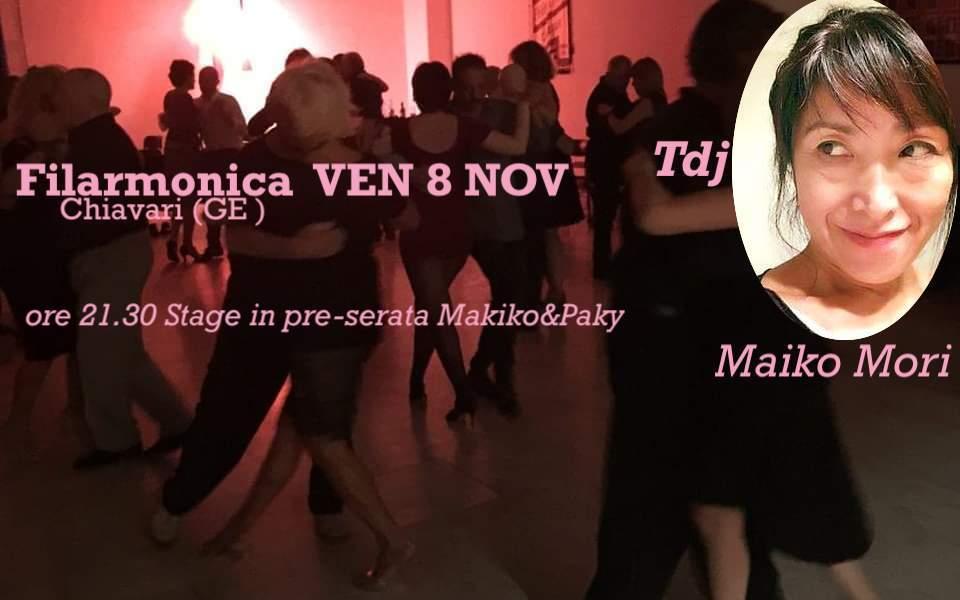 VENERDì 8 NOV  >   FILARMONICA Serata  con TDJ > MAKIKO Mori!